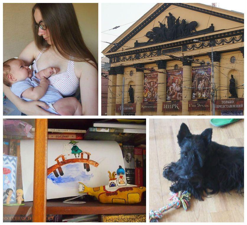 Один мой день в декрете, будут фото жилища, родственников, собаки, ребенка, города, еды и меня